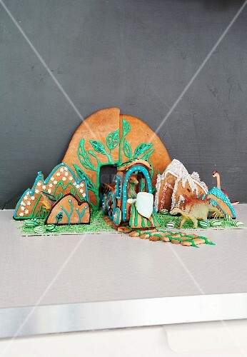 Tableau made from decorated gingerbread