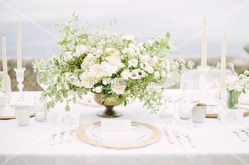 Hochzeitstafel im Freien (Ravello, Italien)