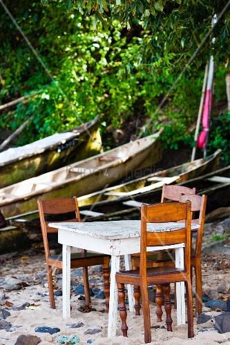 Table on beach