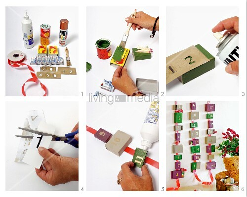 Making an Advent calender from matchboxes