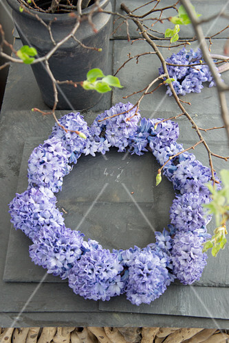 Wreath of hyacinth flowers