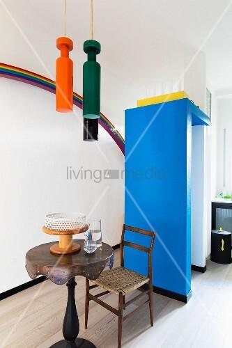 Surrealist designer pieces in kitchen