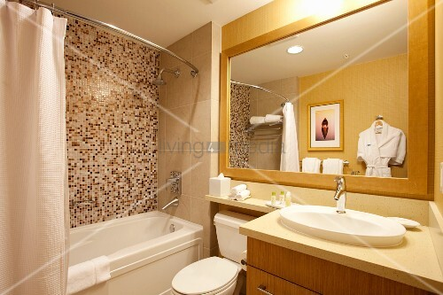 Bathroom Interior in the Watermark Beach Resort in Osoyoos Bristish Columbia