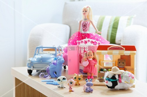 Colourful toys in a child's bedroom