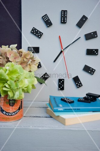 Clock made from dominoes