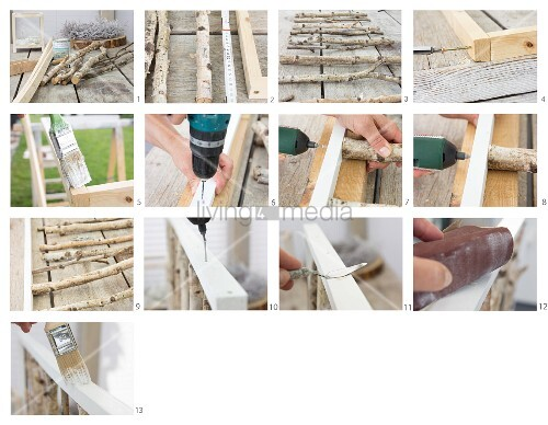 Instructions for making a 3D artwork from birch branches