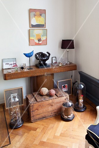 Various collectors' items in corner