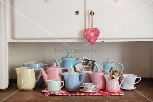 Collection Of Retro Pastel Jugs On Buy Image 12265030