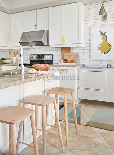 Cool White Kitchen With Light Wood Accents Buy Image Uwap Interior Chair Design Uwaporg