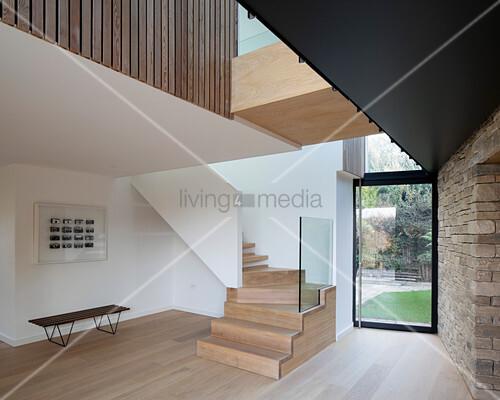 Elegant foyer and stairwell