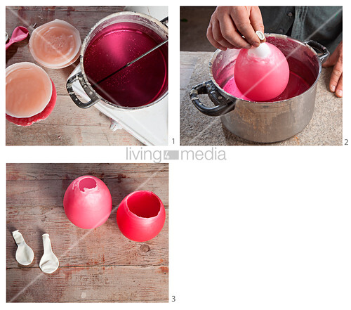 Instructions for making wax vases