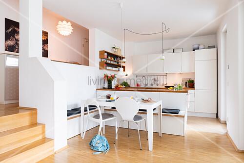 Enjoyable Dining Area With Diy Corner Bench Made Buy Image Inzonedesignstudio Interior Chair Design Inzonedesignstudiocom
