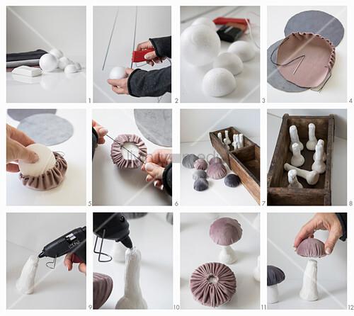 Anleitung für Pilze mit Samthütchen in einer Holzkiste