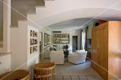 Country House Style Living Room With Low Buy Image 12999924