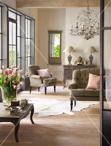 Wohnzimmer auf franzoesisch - Franzosische dekoration ...