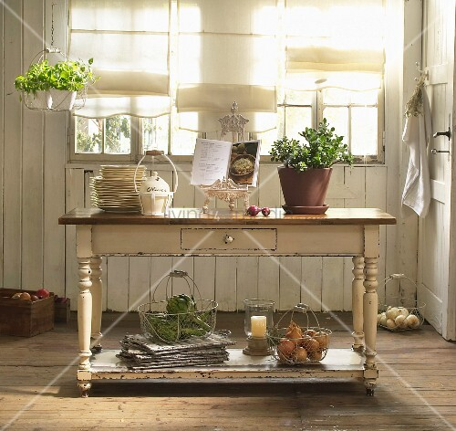 Rustic sideboard in country-house kitchen