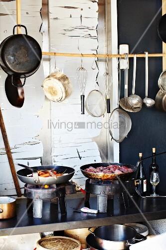 Küche im Restaurant Stedsans, Ostergro, Kopenhagen