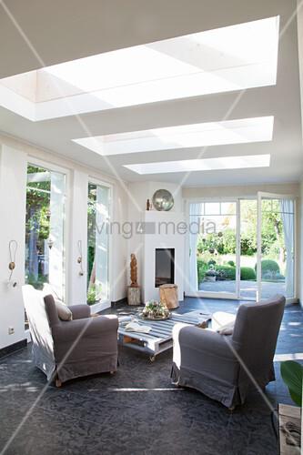 Oberlichter Im Wohnzimmer Mit Offener Bild Kaufen 12372966