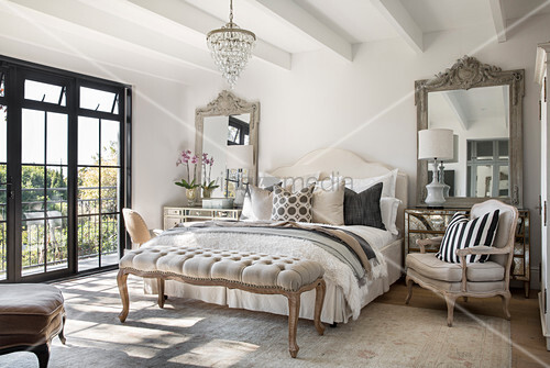 French-style bedroom in shades of beige