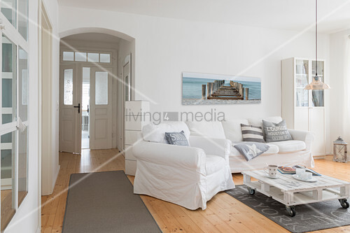 Strange White Loose Covered Sofa Set Pallet Buy Image Uwap Interior Chair Design Uwaporg