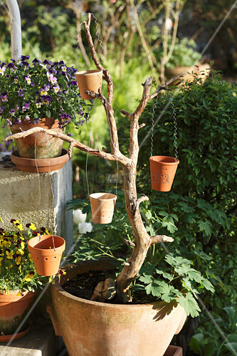 DIY lantern made from plant pots