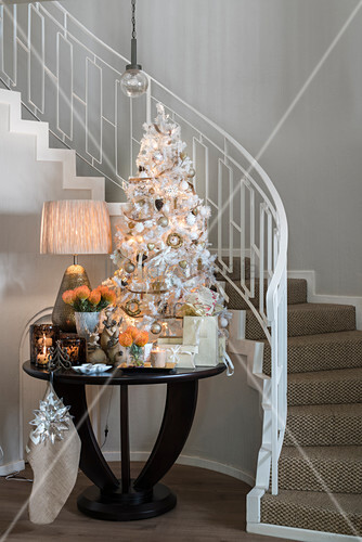 White Christmas Tree And Festive Buy Image 12457224