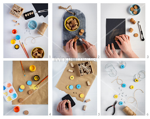 Instructions for making glass tags from corks