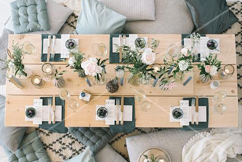 Scandinavian-style indoor picnic