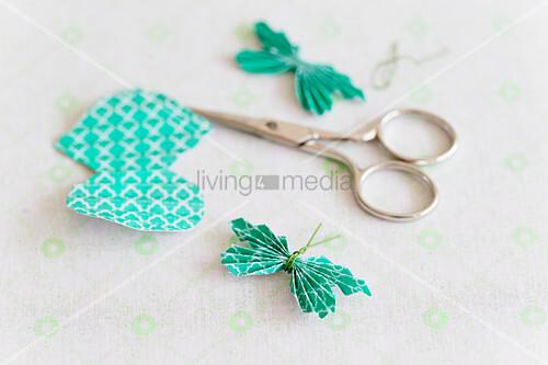 Handmade paper butterflies