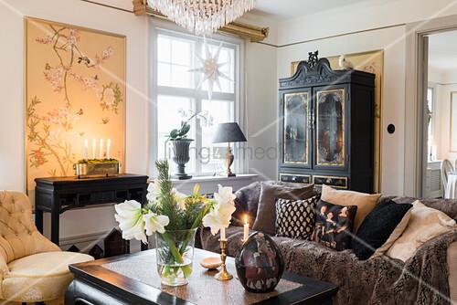 Weihnachtsdeko Wohnzimmer.Gemütliche Weihnachtsdeko Im Klassischen Bild Kaufen
