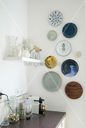 Various decorative wall plates in … – Buy image – 12482768 ...