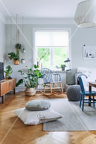 Helles Wohnzimmer im Skandinavischen Stil