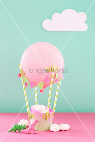 DIY-Heißluftballon für Süssigkeiten