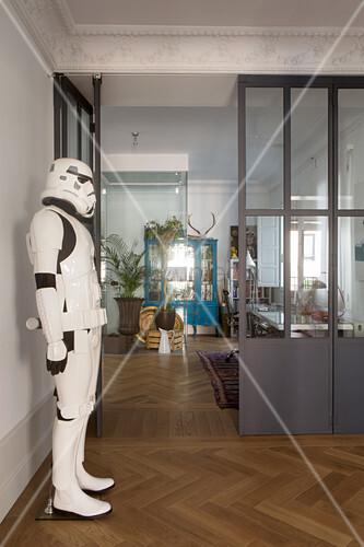 Life-size Star Wars stormtrooper figure