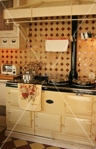A cooker in a kitchen