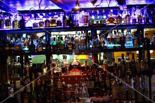 The bar in Cuban restaurant Havana in Brno, Czech Republic