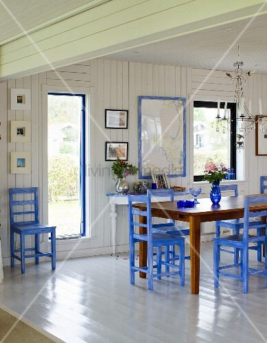 offener essraum mit weisser bild kaufen 00708542. Black Bedroom Furniture Sets. Home Design Ideas