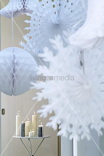 Weihnachtsdeko Papiersterne.Papiersterne Lampions Als Bild Kaufen 00725594 Living4media